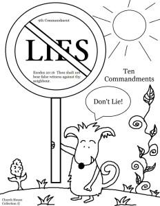 Ten-Commandments-Thou-Shalt-Not-Lie-Coloring-Page