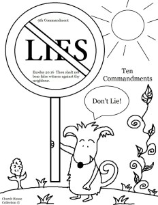 Ten-Commandments-Thou-Shalt-Not-Lie-Coloring-Page