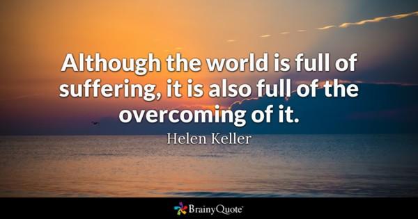 overcoming hellen keller quote